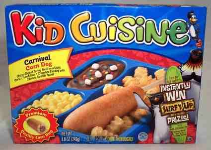 Kids cuisine corn dog meal advertising revamp project for Are kid cuisine meals healthy