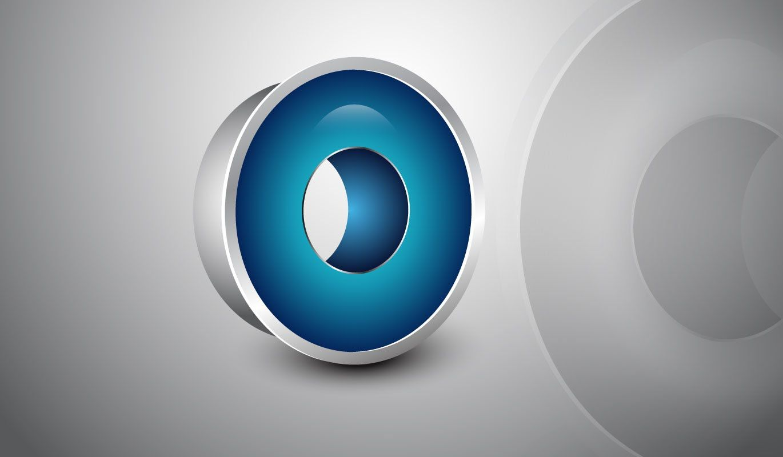 Adobe Illustrator Tutorial | 3D Logo Design (Glossy Blue)
