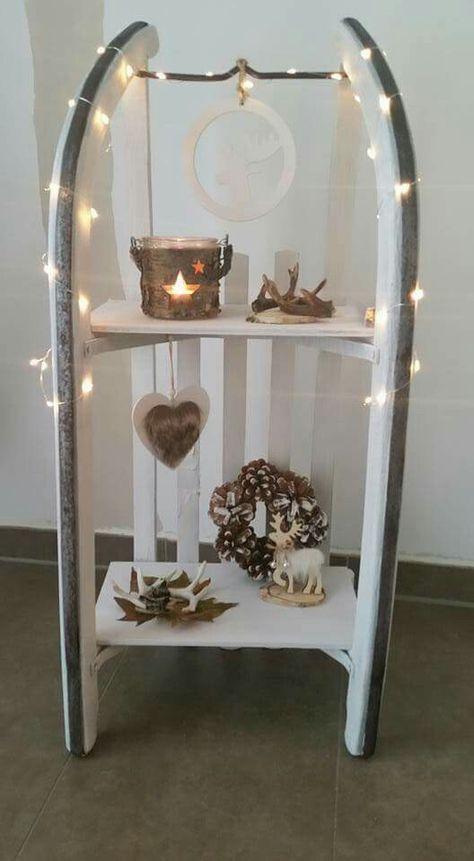 schlitten weihnachtlich dekoriert dekoration pinterest weihnachten weihnachtlich. Black Bedroom Furniture Sets. Home Design Ideas