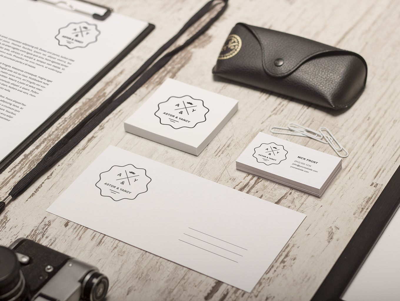 Identity Mock Up Vol 1 Branding Identity Mockup Retro Business Card Logo Design