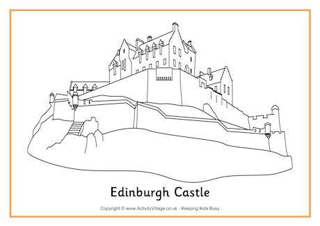 Edinburgh Castle Colouring Page Coloring Pinterest Coloring
