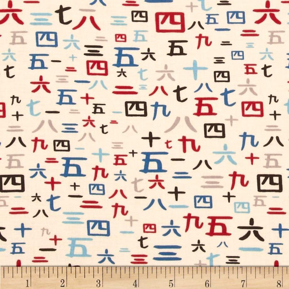 Alexander henry indochine kakomi kanji tea discount designer fabric - Your Project Design Wall Fabric Store