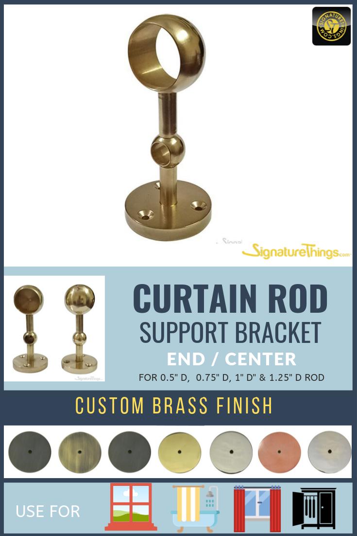 Double Curtain Rod End Bracket Center Drapery Bracket Discontinued Double Rod Curtains Curtain Rod Ends