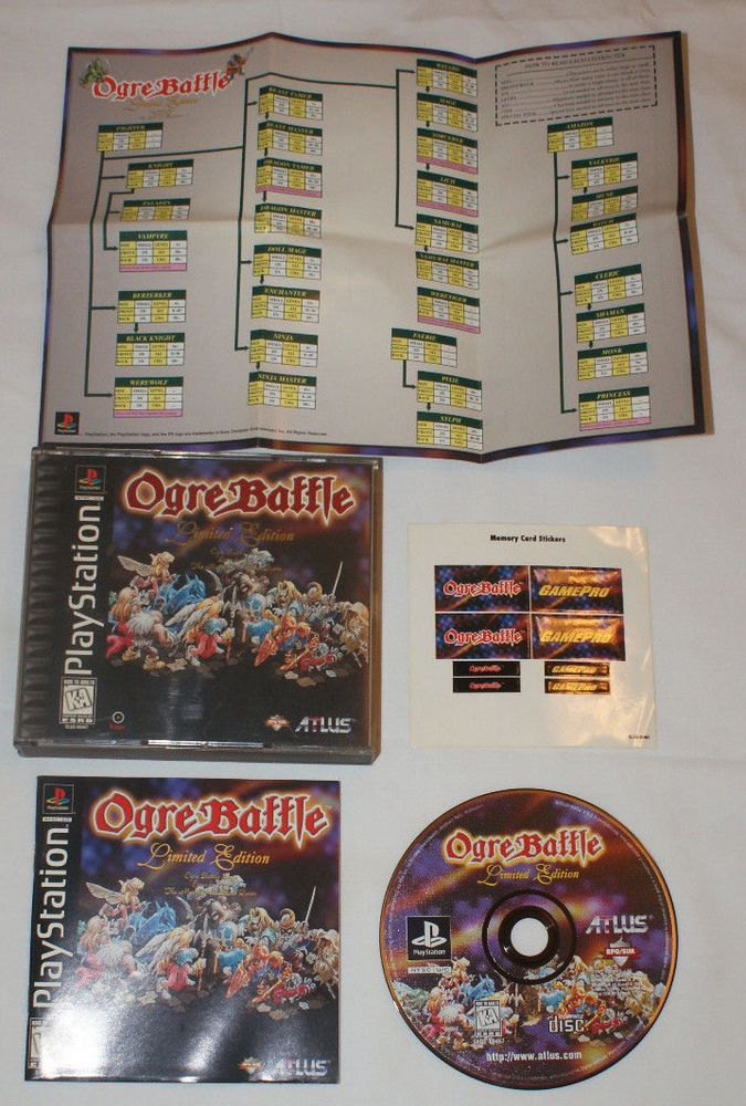 Ogre Battle: Limited Edition Game Manual Map Stickers PS1