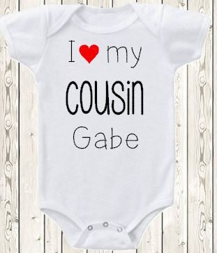 Personalized cousin onesie pregnancy announcement idea for aunt personalized cousin onesie brand bodysuit or shirt pregnancy announcement idea for aunt uncle i love my cousin custom new baby gift negle Choice Image