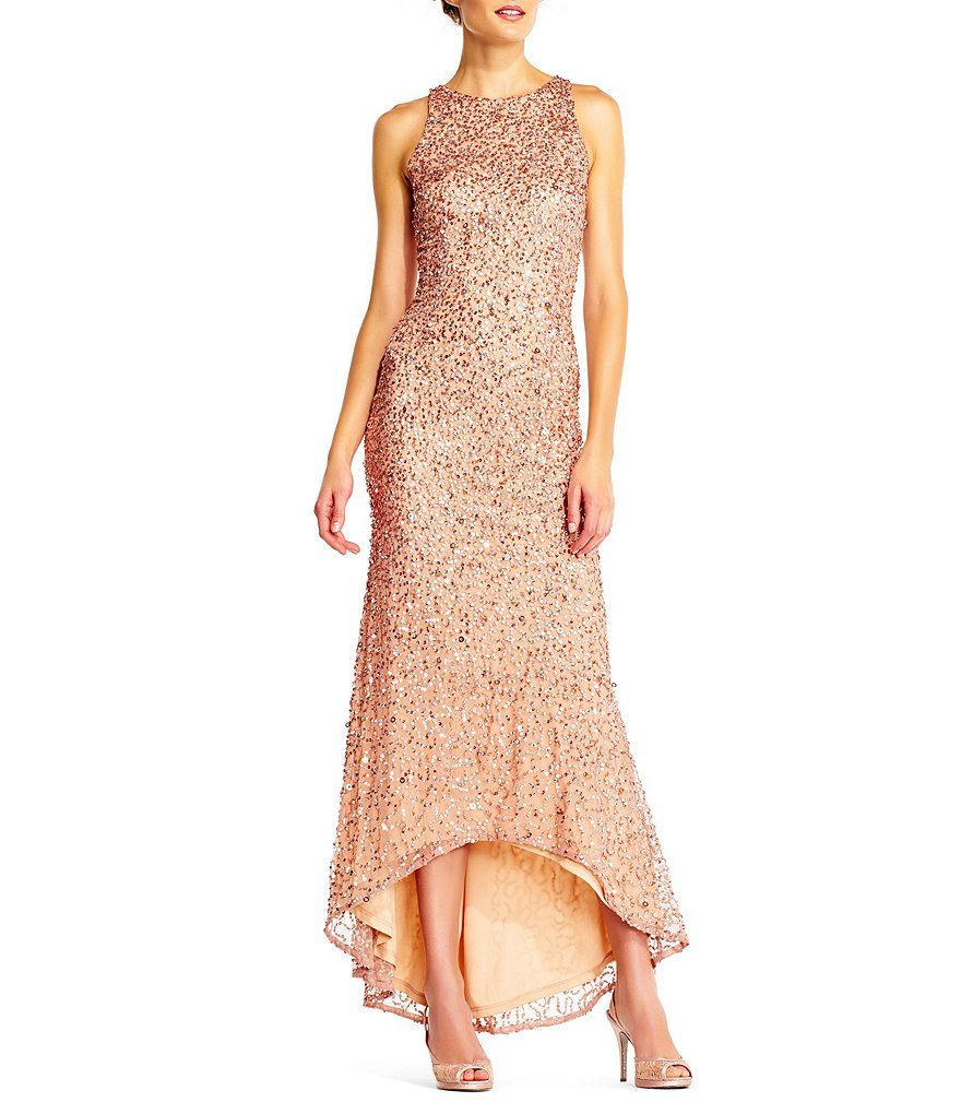 78c994def46 Adrianna Papell Plus Beaded Blouson Gown-Dillard s
