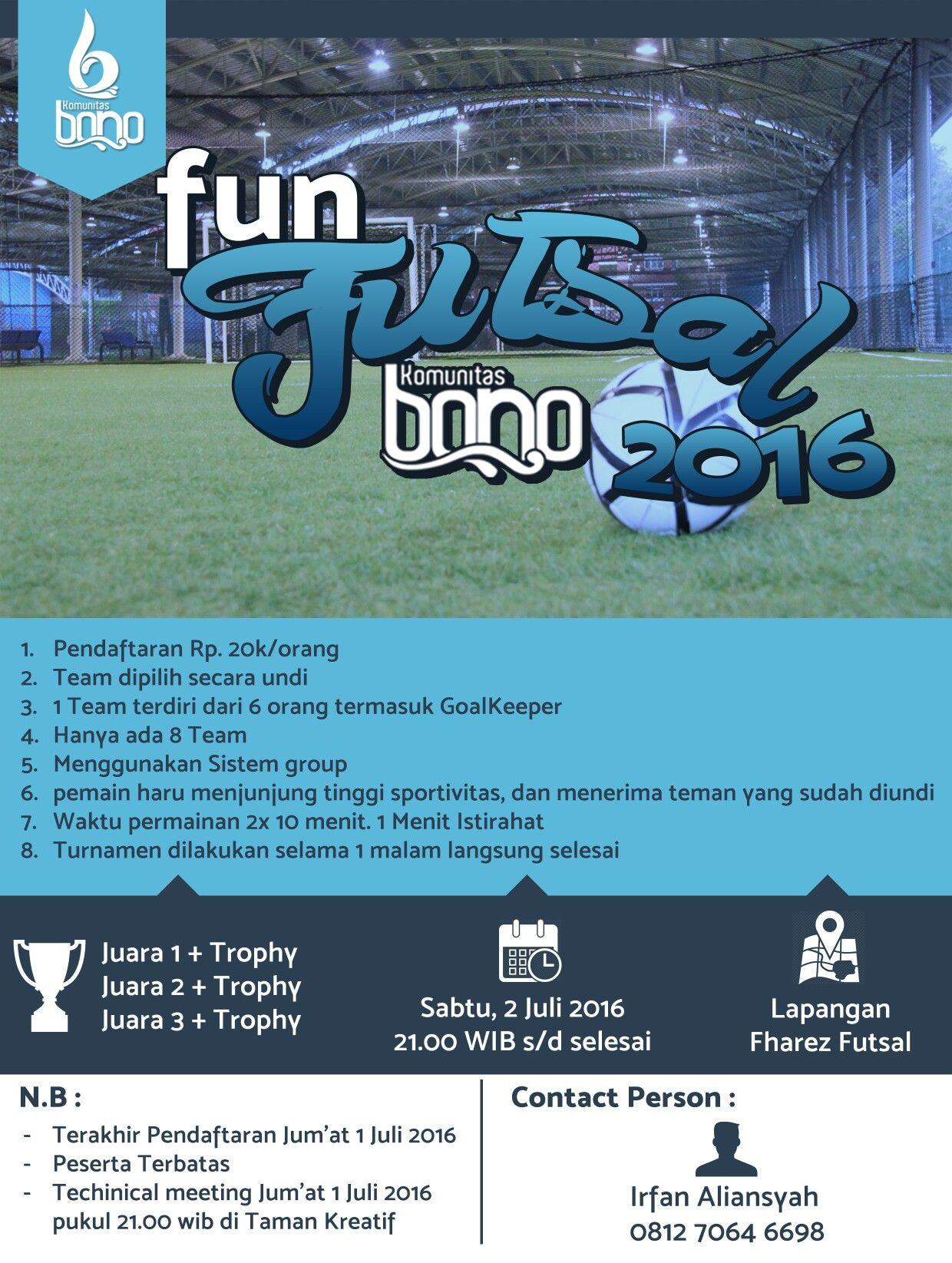 Design Flyer Turnamen Futsal 2016 Design Graphic Pinterest