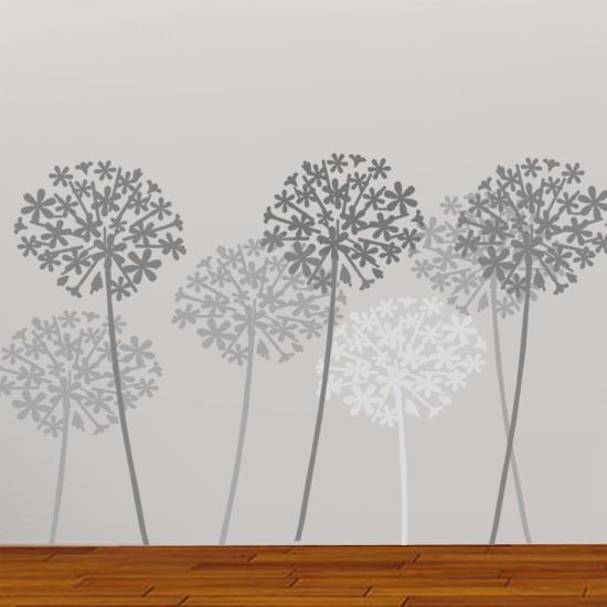 Details About Allium Flower Stencil Floral Home Wall Da C Cor