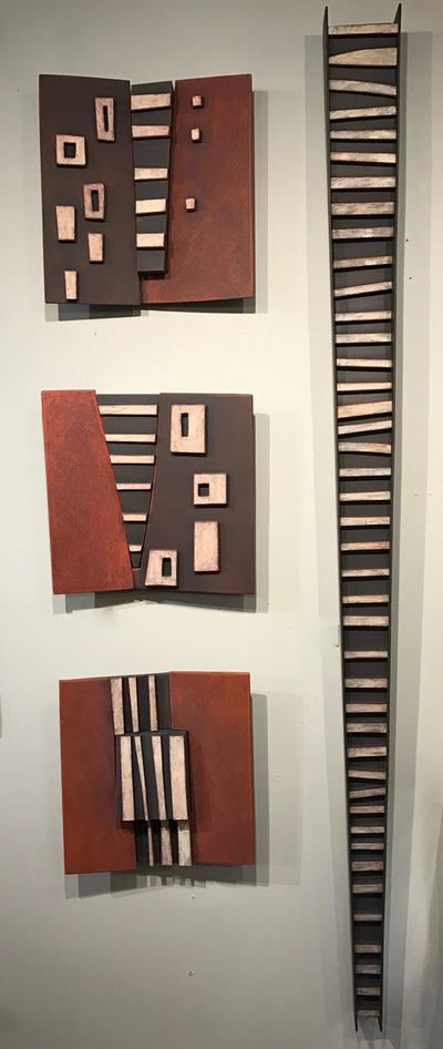 Larry Fox Architectural Squares U0026 Totems   Michigan Artists Gallery