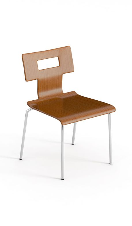 Bent Plywood Chair Square Back   Available Through MeTEOR Education