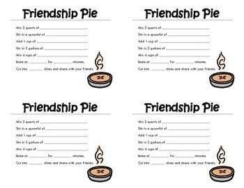 Image Result For Recipe Card Template Pie