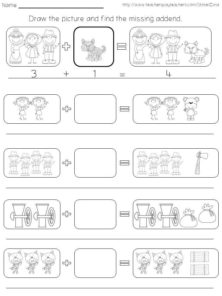Printer´s choice - fairy tale themed math activities | TpT Math ...