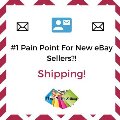 When starting to sell on eBay, shipping can be overwhelming. It need not be. Let me break it down for you.  Before your start to list your eBay item, put it on a postage scale with ALL the packing materials you plan to use and weigh them. In addition to the weight I see, I add an extra ounce to account for the packing slip and business card I insert with my packages.