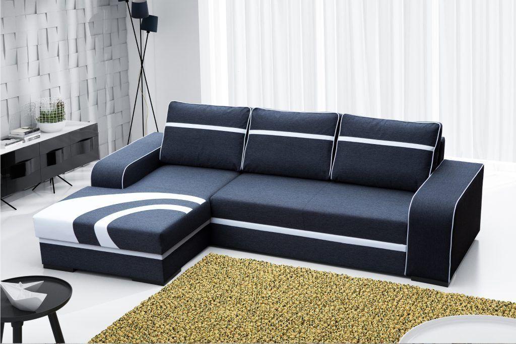 Sofá chaise longue cama – Bay Tapizado en tela de color gris