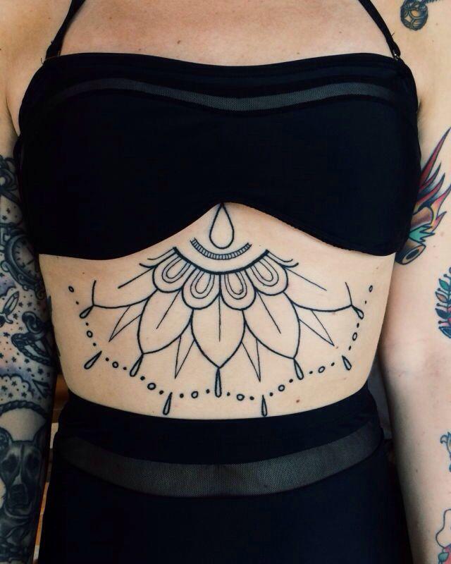 Geometric Stomach Tattoo Stomach Tattoos Belly Tattoo Stomach