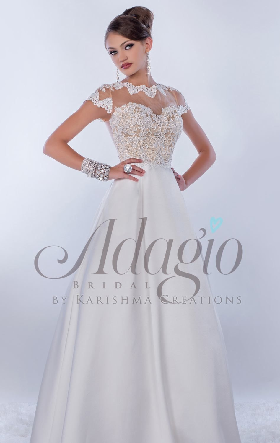 Become an angelic bride on your special day in Adagio Bridal D9170 ...
