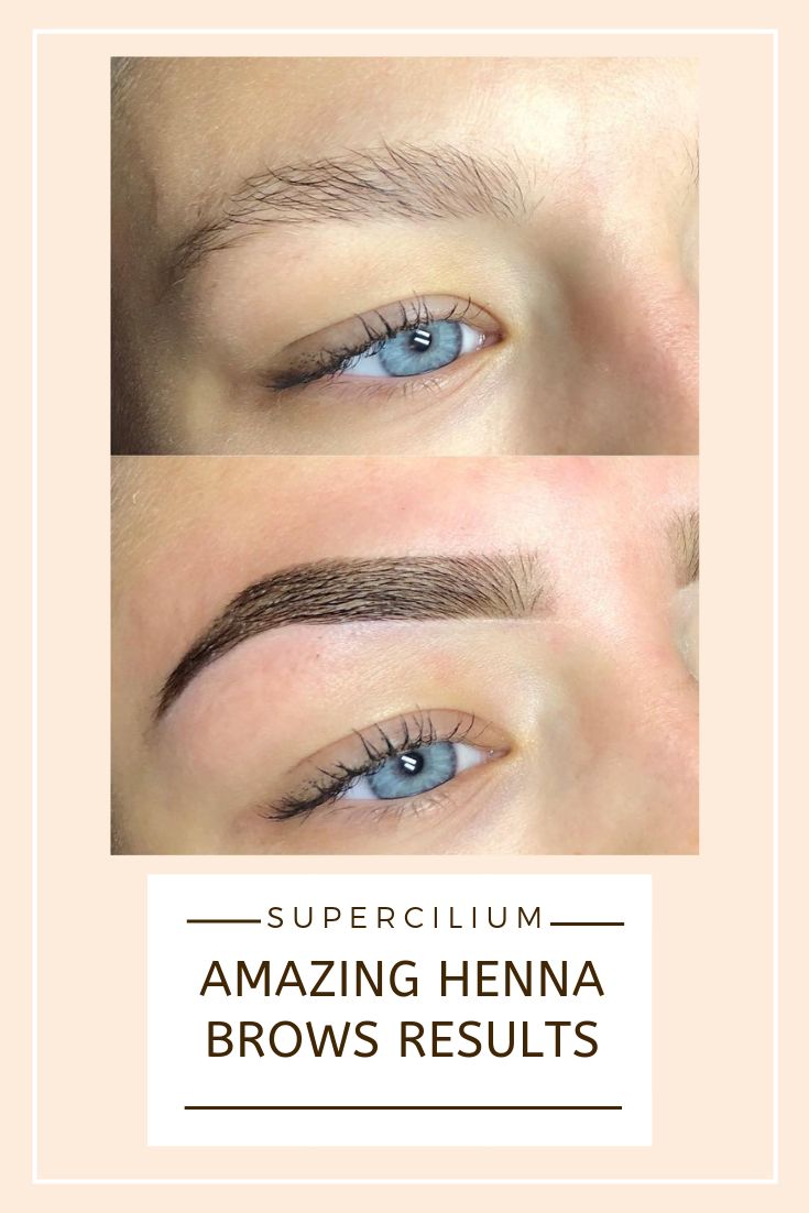 Flawless Long-lasting Henna Eyebrows Results Made With