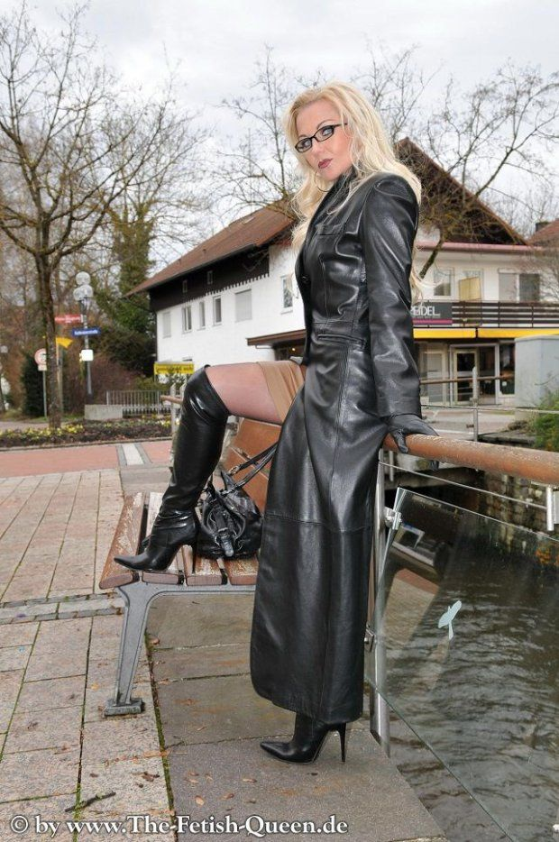 Leather trench fetish