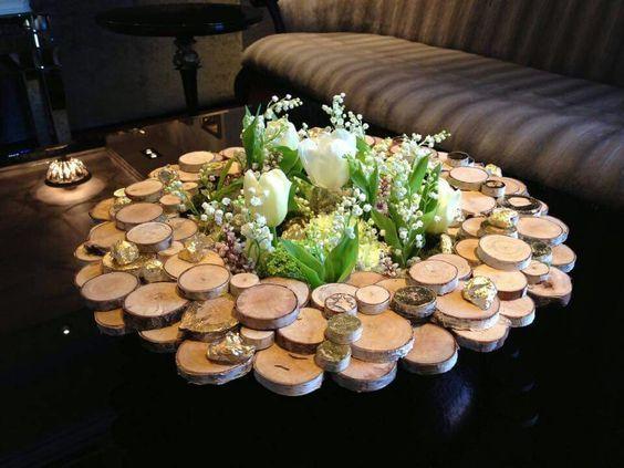 Photo of Christmas arrangement #rustic christmas table decoration Christmas arrangement – F …