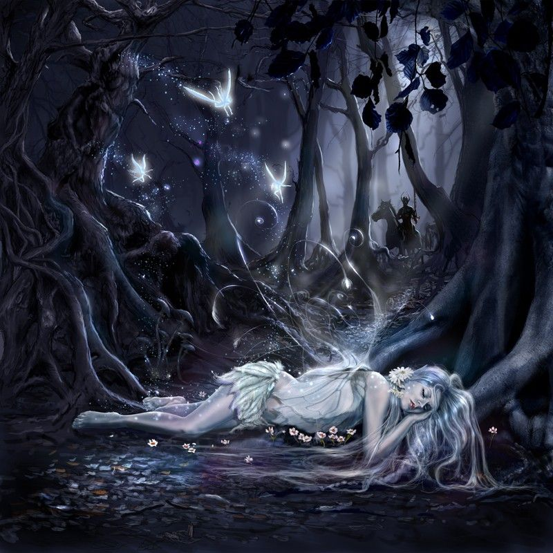Beautiful Dark Art Paintings Sleeping