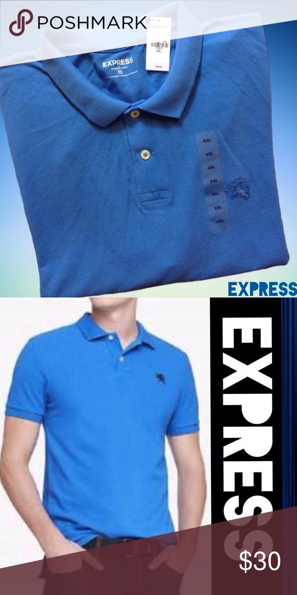 Express Modern Fit Pique Polo Modern Fit Small Logo Pique Polo