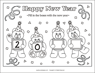 New Years Coloring Pages New Year Coloring Pages New Year S Eve Colors Newyear