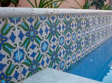 Decorative Pool Tiles Glamorous Pool Waterline Tile Perth  Mediterranean  Pool  Perth Inspiration