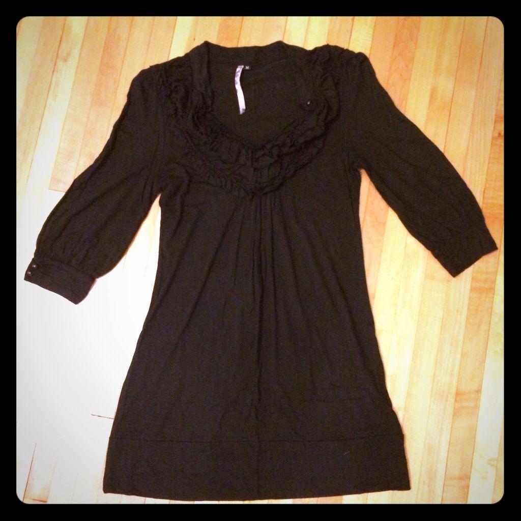 Black ruffle dress size m products