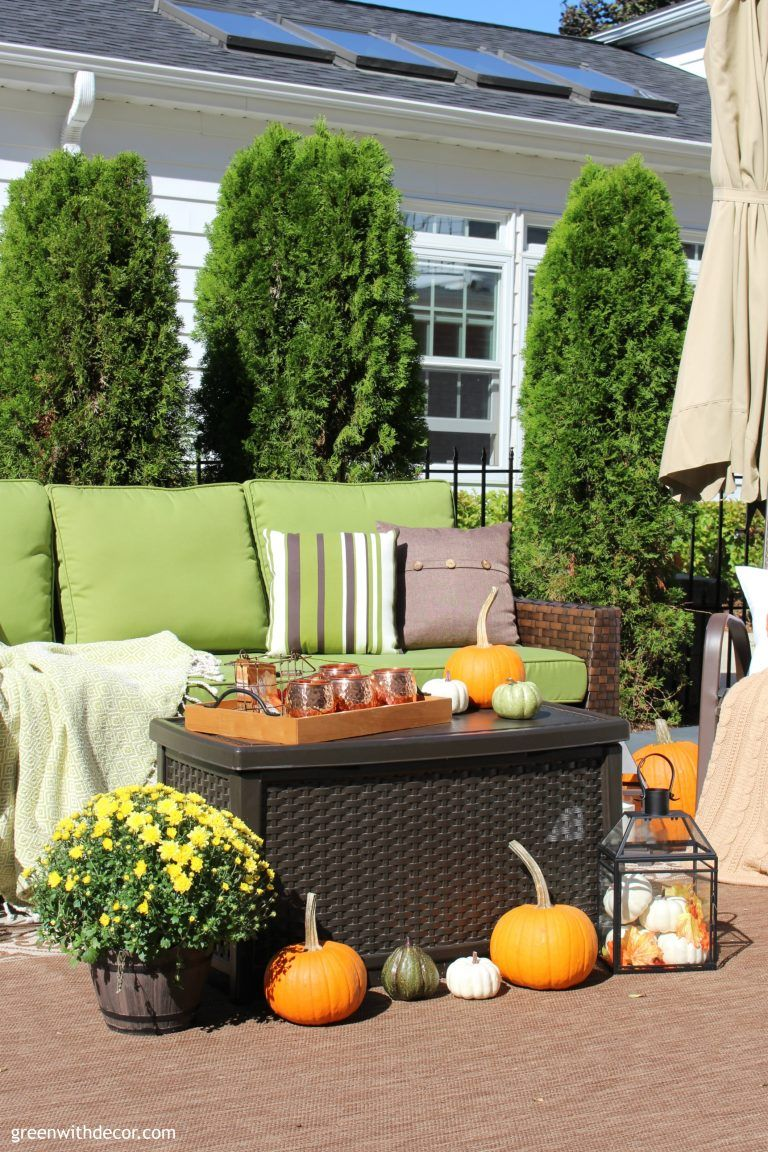 Fall patio ideas + outdoor tour #falldecorideasfortheporchoutdoorspaces