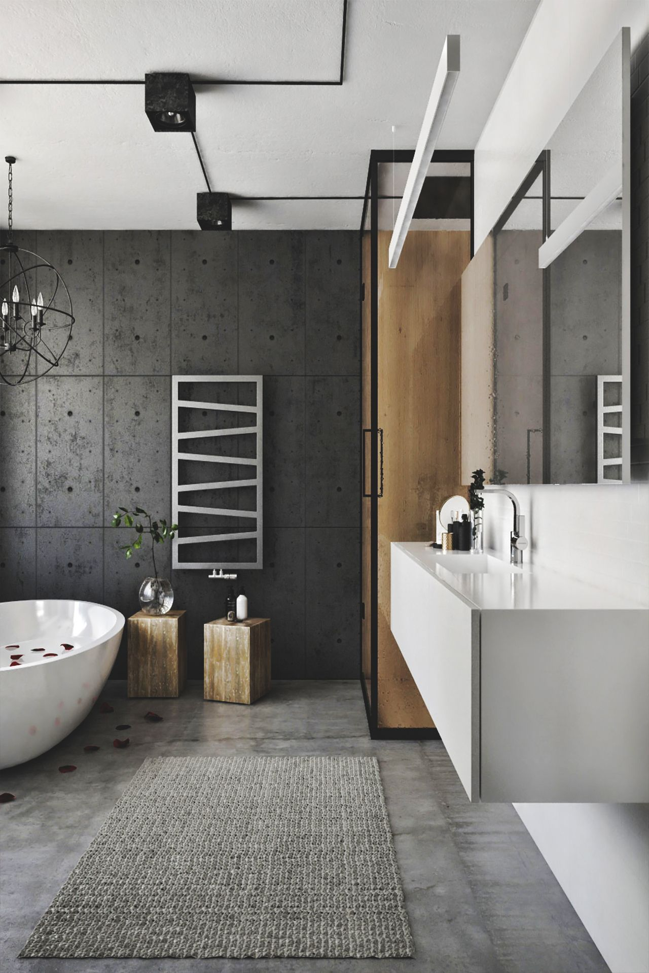 Fresh Grey Bathrooms Decorating Ideas
