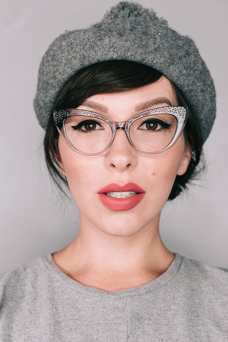 Women S Eyeglasses Keiko In Nicole Brunette Cat Eye Glasses