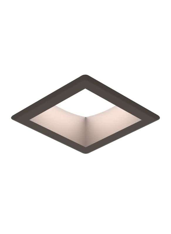 """Sea Gull Lighting 14301S Traverse Unlimited 6"""" LED Square Trim Integrated Recess"""