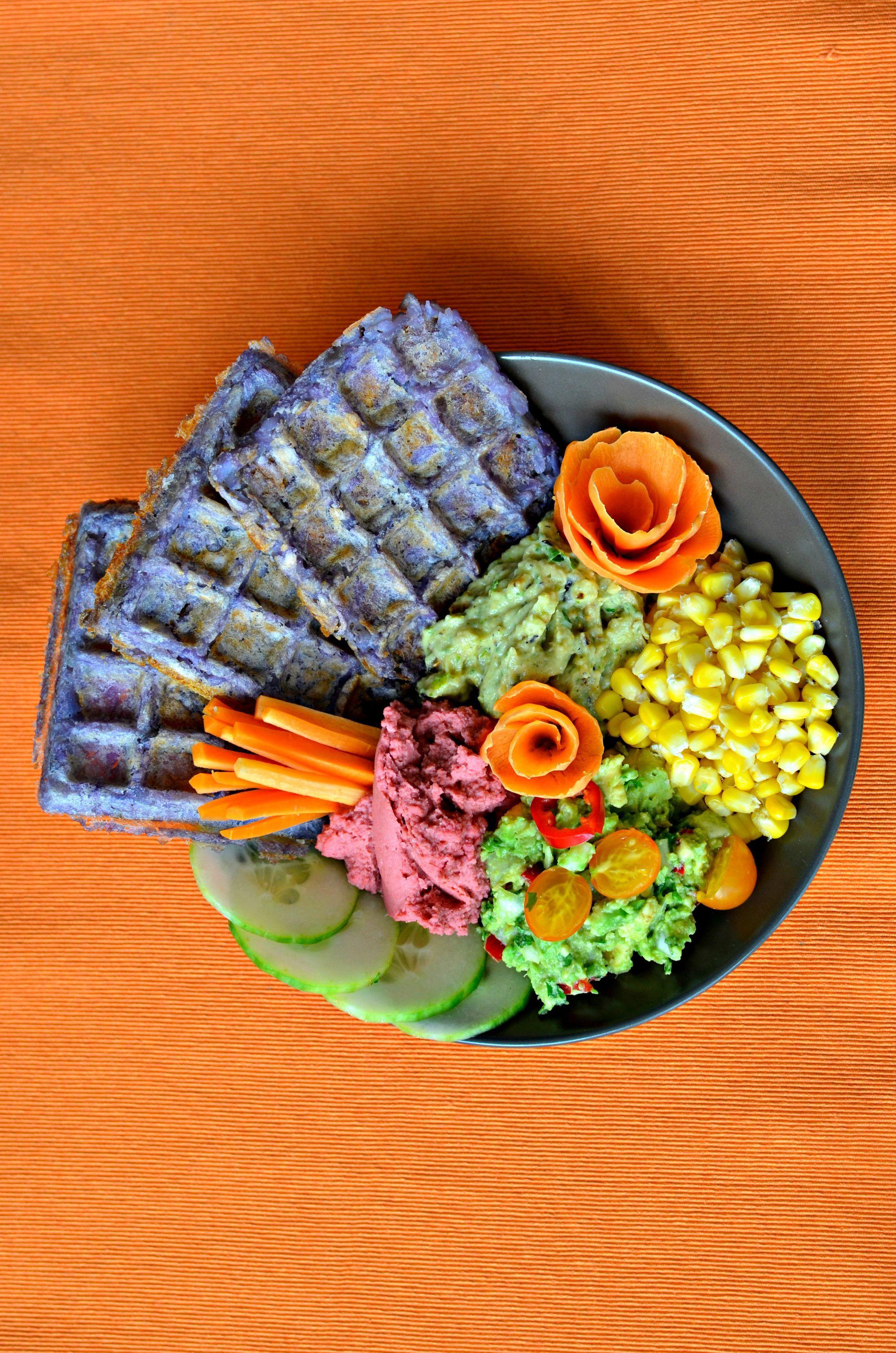 Birds eye has launched mini rainbow potato waffles eat