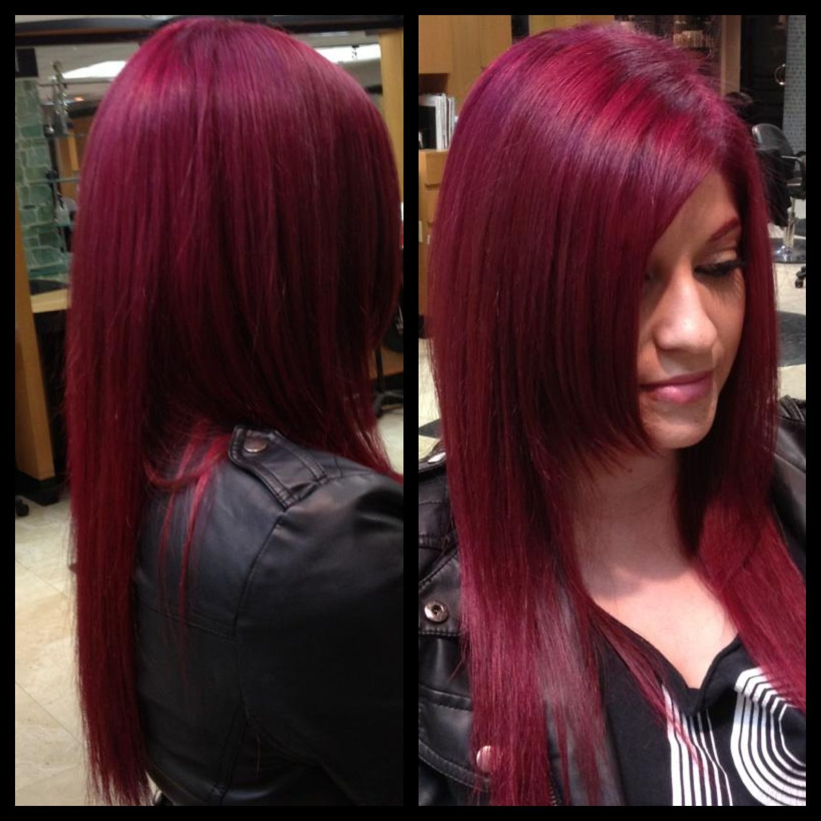The 25 Best Magenta Hair Ideas On Pinterest Plum Purple