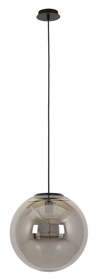 Marcel 300mm pendant black smoke glass | Pendant lighting ...