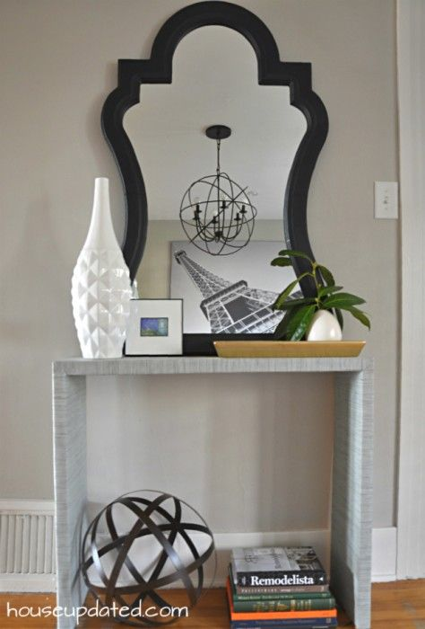 entry parsons console table with curvy mirror | Playing ...