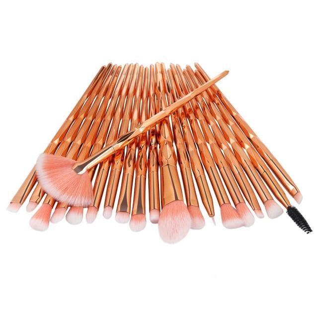 20pcs Diamant Make-up Pinsel Set Beauty Make Up Pinsel Pincel Maquiagem Puder Foundation Blush Blending Lidschatten Lippenkosmetik – Gold