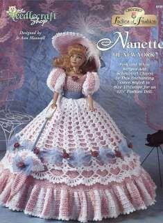 Doll Gowns dresses Vintage Crochet