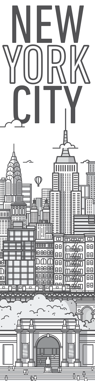 Dribbble Nycbig Dribbble Png By Nick Staab City Illustration House Illustration New York