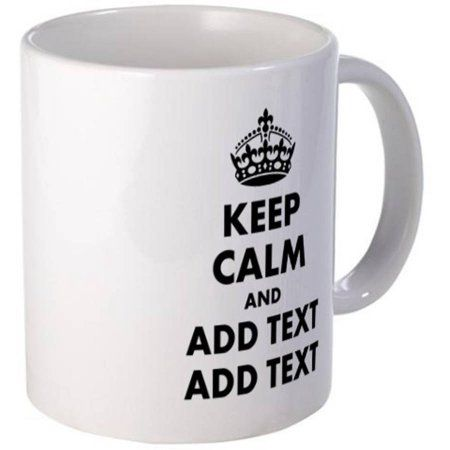 Cafepress Personalized Keep Calm Mug, Multicolor