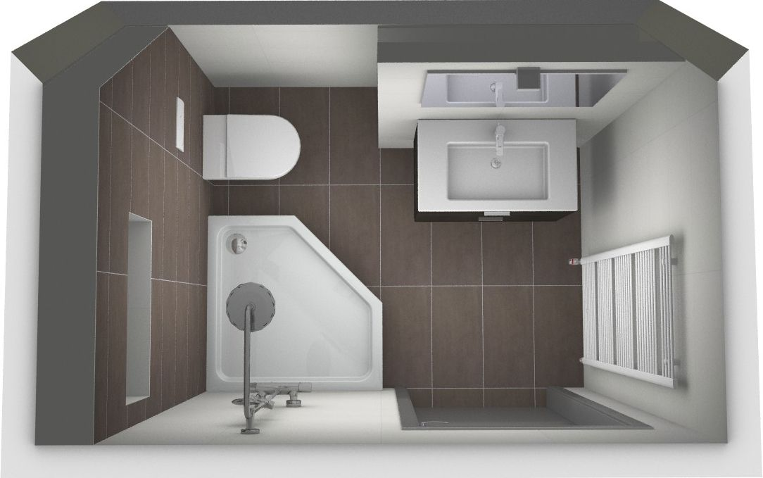 5 voorbeelden voor het indelen van een kleine badkamer | Küçük ...