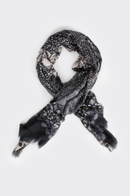 New Zadig/&Voltaire 100/% Modal skull print Scarf//shawl 135x135 cm