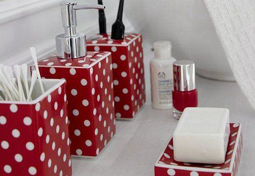 Bathroom Accessories Tumblr Polka Dot Decor Bathroom Red Red Bathroom Decor