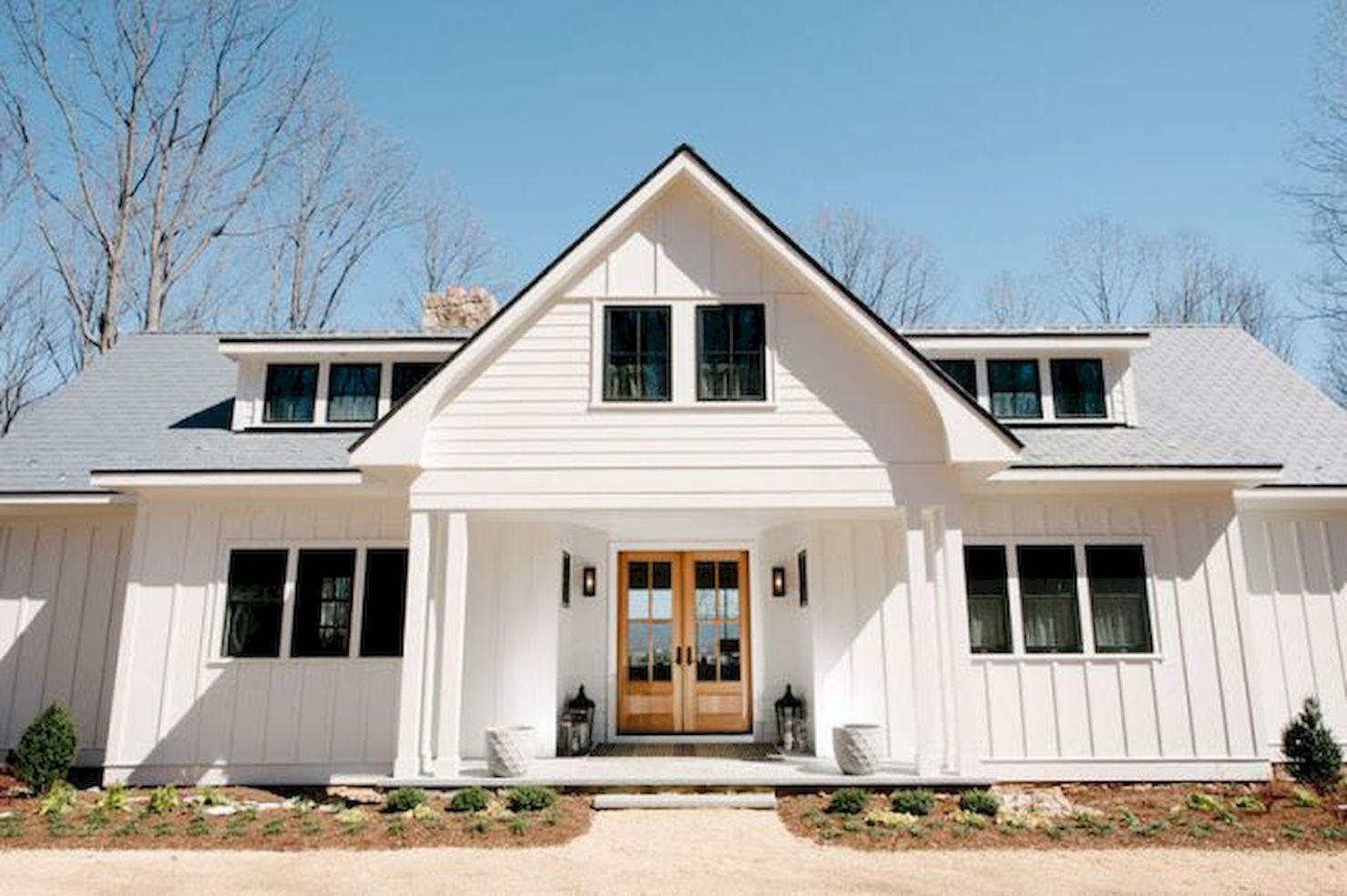 90 Incredible Modern Farmhouse Exterior Design Ideas (38