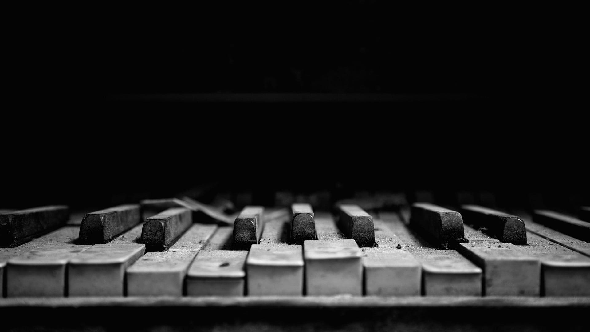 Piano Keys Grayscale Photography Of Piano Piano Musical Instrument Monochrome Dust Music Macro Dark 1080p Wallpaper Piano Keys Piano Music Wallpaper Hd wallpaper piano keys macro musical