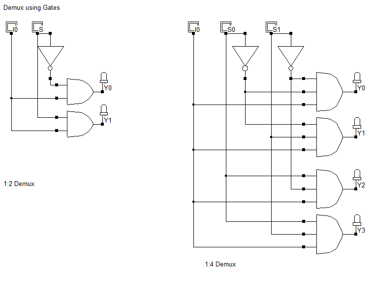 Demultiplexer Using Logic Gates Circuit Design Electronics Circuit Circuit