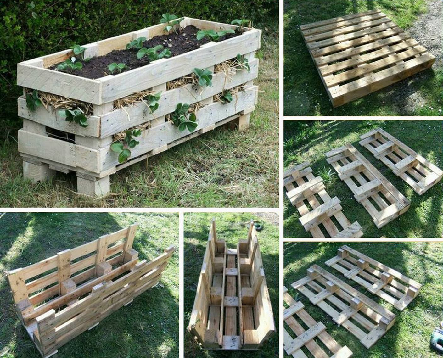 Diy Planter Box From Pallets Ideas For Strawberry Planters Google Search Garden