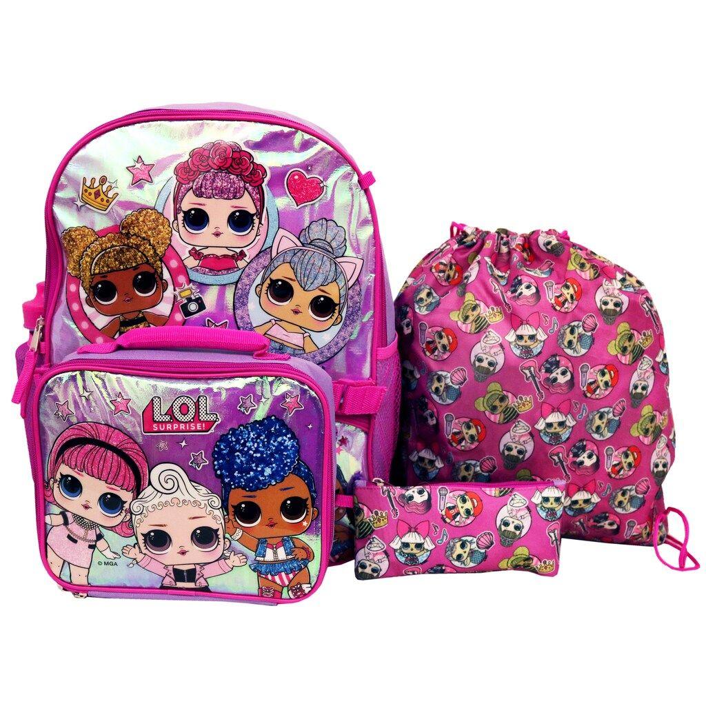 Girls' LOL Surprise 5Piece Backpack Set Backpacks, Kids