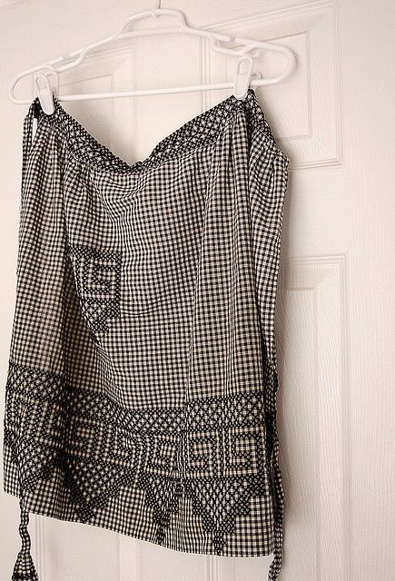 Chicken Scratch Apron by hurrayic, via Flickr