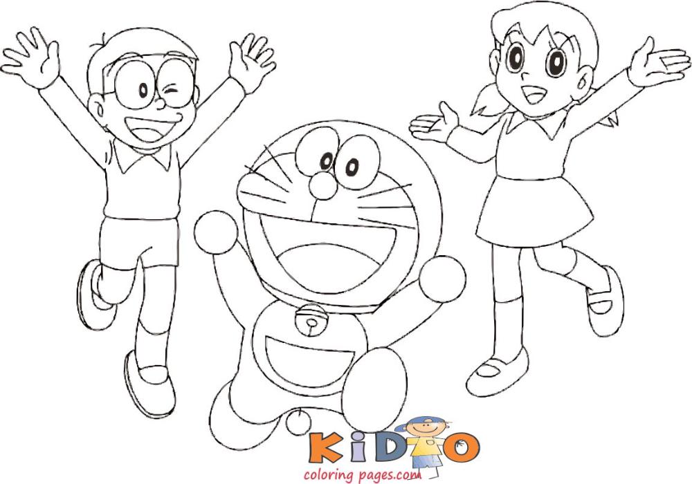 Doraemon Shizuka Nobita Coloring Page To Print Coloring Pages To Print Coloring Pages Coloring Books